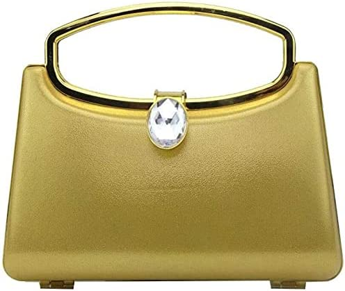 BDBT Women's Evening Handbags PU Handbag, Diamond Design, for Business Banquet, Party (Color : Yellow)