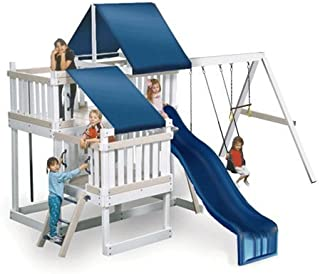 CONGO Monkey Playsystem #2 with Swing Beam - White and Sand Low Maintenance Play Set