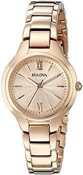 Bulova 97L151 Women's Analog Display Quartz Rose Gold Watch