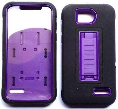 [ NP ARMOR ] Built-in Screen Guard Protector Faceplate Phone Case arBLACK/Purple for ZTE Atrium / Z793C / ZTE Scend LTE / Z791g / ZTE Overture 2 / Z813 / ZTE Maven/ZTE Fanfare Z812