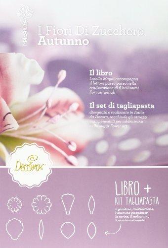 Decora 0803040 Libro Autunno con Kit 8 Tagliapasta, Plastica, Viola