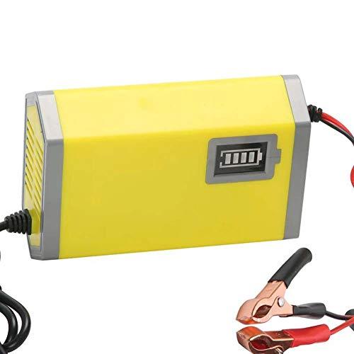 ZJWD Elektroroller-Ladegerät, 12V6A-Netzteil, Flammhemmende Hülle, Rückschlusskurzschlussschutz, Leistungsanzeige, Automatische Abschaltung, Verwendung Für Motorradautos, Autobatterieladung