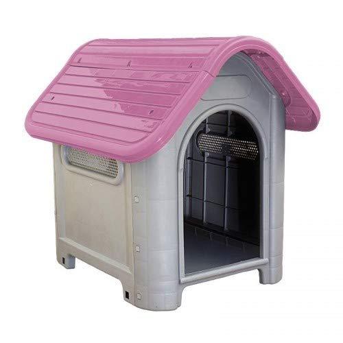Casinha Rosa Plástica para Cachorro Dog Home Número 3