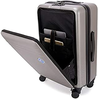"""Front Opening Trolley Luggage Fashion Suitcase with Mezzanine Travel Trolley Case for Computer Notebook 20""""22""""24"""" Inch (Color : Red, Luggage Size : 24+quot;)"""