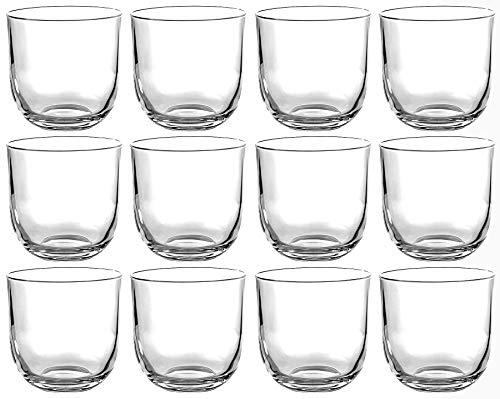 Hochwertige Wassergläser Set 12-teilig aus Kristallglas - 286ml - Tumbler Cocktail Saftglas Whiskyglas - Perfektes Trinkgefühl ohne scharfe Kanten - spülmaschinenfest - Universalglas - Ultra Klar