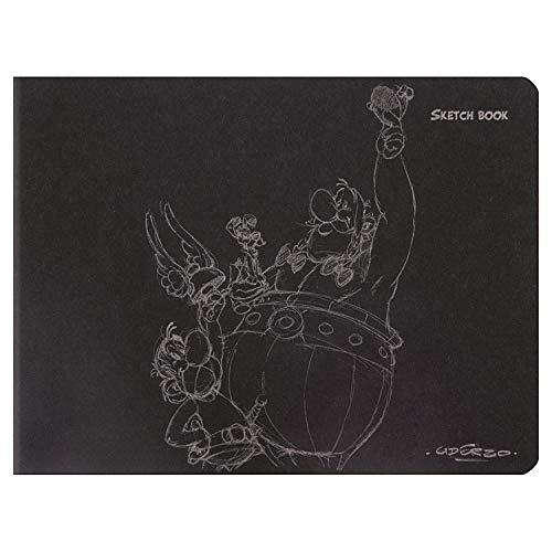 Clairefontaine 813001C Astérix Crayonés Sketchbook (formato apaisado) que incluye 60 páginas de papel dibujo liso marfil 16 x 21 cm, 90 g, tapa de carta negra, visiblemente aleatoria.