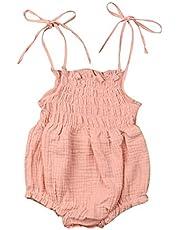 الصيف الوليد الرضع طفلة السروال القصير الصلبة ارتداءها بذلة الزي الملابس ملابس الطفل دعوى عارضة (Color : F, Kid Size : 12M)