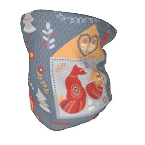 Bufanda de mascarilla para niños, casas de hadas con animales y pájaros, tubo de polaina de cuello elástico alto, máscara de esquí, pañuelos, pasamontañas lavable y reutilizable para niños y niñas