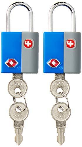 Swiss Gear Luggage Lock, Black/Grey