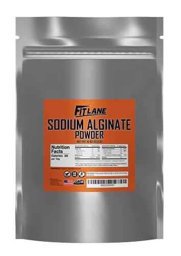 Sodium Alginate Powder, Food Grade Bulk Powder for Thickening, Non-GMO and Vegan, 1lb (16 oz) Bag