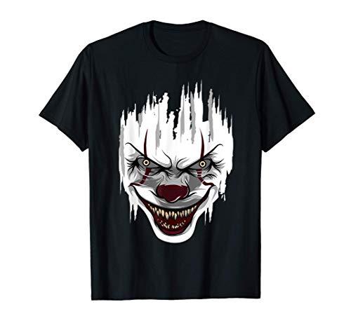 Payaso asesino de Halloween Mime Arlequín Derrador Payasos Camiseta