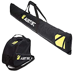 top 10 ski bags Ski bag and shoe bag combination AUMTISC One pair of ski boots with adjustable length ski bag (black)