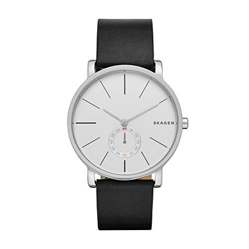 Skagen Unisex Analog Quarz Uhr mit Leder Armband SKW6274
