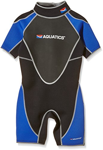 Aquatics Kinder Neoprenanzug Shorty, Blau/Schwarz, M, 49070