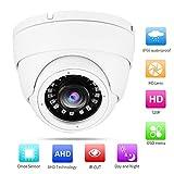 4-en-1 TVI analógica/AHD/CVI/CVBS Cámara de Seguridad Domo analógica para Exteriores CCTV DVR Cámara IR Domo HD para Exteriores NTSC, cámara para Interiores/Exteriores(4MP)
