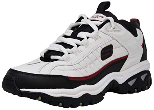 Skechers Men's Energy Afterburn Lace-Up White/Black/Red Sneaker 10.5 M US