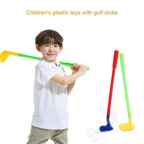 MOGOI Kinder Golfschläger-Set, Kunststoff, für Kleinkinder, Eltern-Kind-Spiele – Beste Golfschläger Spielset für Kleinkinder und Vorschulkinder