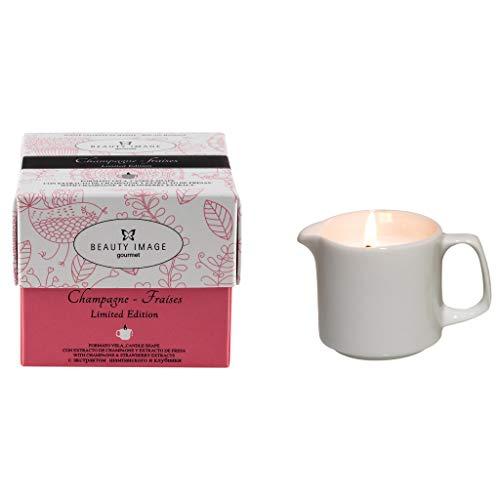 candele profumate massaggio Beauty Image candela con olio per massaggio corpo alla fragola e champagne