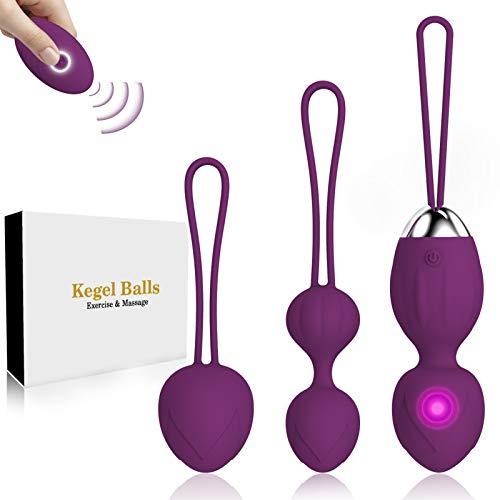 Ben Wa Balls,Silicone Kegel Exercise Weights Balls for Women and Pelvic Floor Tightening Exerciser