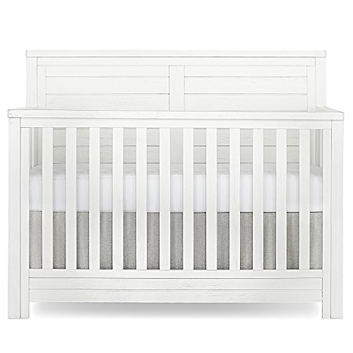 Evolur Belmar Flat 5 in 1 Convertible Crib, Weathered White