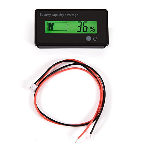 Best Deals! Battery Monitor Digital Battery Capacity Tester Voltage Meter LCD Display Lithium Batter...