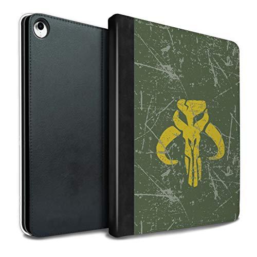 Tablet Hülle Für iPad Pro 10.5 (2017) Galaktisches Symbol Kunst Kopfgeldjäger Inspiriert Design PU Leder Tasche Brieftasche Schutzhülle Flip Case