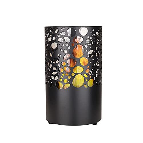 DJLOOKK Portable Tabletop Bioethanol Fireplace, Tabletop Fire Pit Bowl, Patio Heater for Indoor Outdoor Garden Balcony Living Room,Black