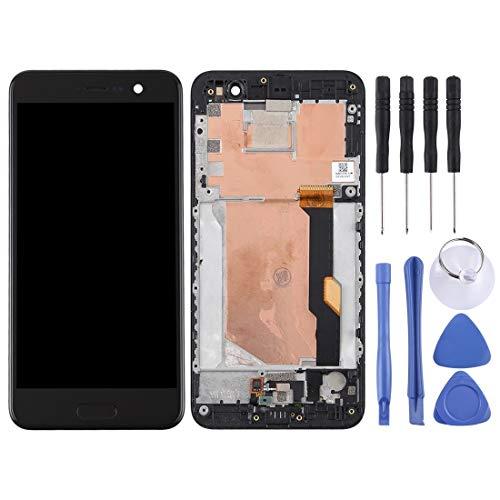 runqimudai Riparazione di rinnovo per la Protezione dello SCH Schermo LCD e Digitizer Assemblea Completa con la Pagina for HTC U Gioco (Color : Black)