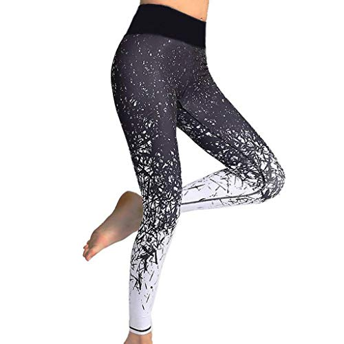 Gaddrt Leggings Damen Sport Yogahose Laufhose Training Leggings Workout Print Sporthosen Fitness Stretchhose (S)