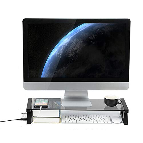 SHANG Computer Riser, tragbarer Computer- / Desktop-Computerbildschirm mit USB-Tastaturspeicher-Desktop-Rack