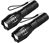 BEACON Handheld Flashlight, Flashlights, LED Flashlight with High Lumens, Zoomable, 5 Modes, Water Resistant for Camping, Outdoor, Emergency, Everyday Flashlights(2 PACK)