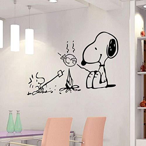 Wandaufkleber Netter Hund Am Grill Abnehmbare Vinyl Küche Dekor Wandaufkleber Wohnkultur Bäckerei Café Shop Wandtattoos Wandkunst Stick 58 * 46Cm