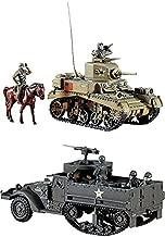 2 Hasegawa WW2 Models – M3 Stuart Tank and M3A1 Half Track (Japan Import)