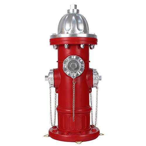 Lathamsea 17.5 Inches Dog Fire Hydrant Statue, Big Size Training Puppy Pee Post with 4 Stakes for Outdoor Garden Patio Yard Ornament Decorations