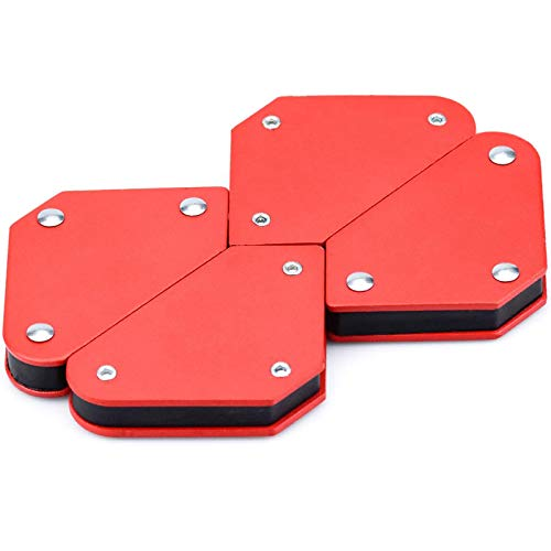 Schweißmagnethalter Magnetwinkel Schweisser Winkelmagnet Starker Magnetschweißhalter 45 ° 90 ° 135 ° Magnetische Schweißwinkel als Halter und Positionierer Beim Schweißen, Löten, Markieren 4 Stück