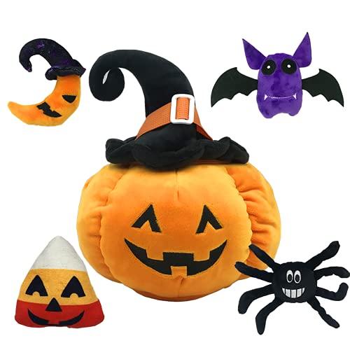 Juguete de Peluche de Calabaza de Halloween, Divertido Animal de Peluche de Calabaza, Caramelo de Luna de murciélago araña de Felpa, Almohada de Calabaza, Juguetes de Halloween para niñas y niños