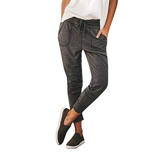 Lulupi Damen Sweat Hose Jogginghose Stoffhose Sommermode Vintage Look Sweatpants für Freizeit Sport Pencil Pants