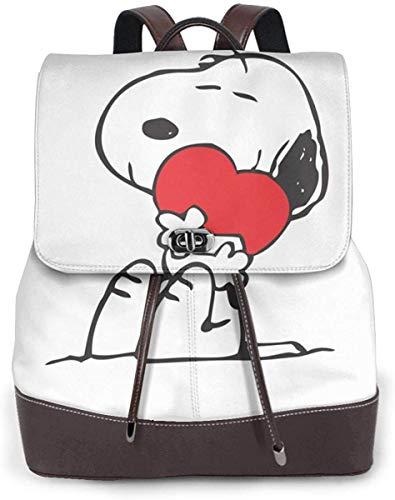 Snoopy スヌーピー 37 リュックサック レディース 高級本革 レザー バック 女子 人気 通学 OL 通勤 旅行 防撥水 軽量 手提げバッグ,ブラック,One Size