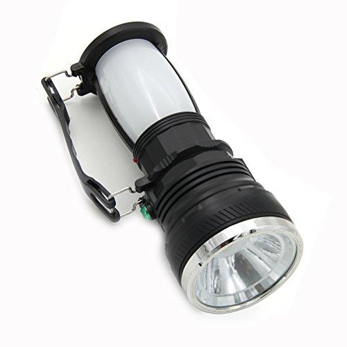 OFKPO - Linterna para camping portátil y plegable, uso exterior, recarga USB y solar, para senderismo y camping