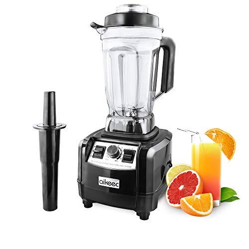 aikeec Standmixer Smoothie Maker, 1600W Mixer, Professioneller Shakes Blender, Mühle und Eisbrecher, Fleisch Zerkleinerer/Ice Crusher + Schleifer, 10 Geschwindigkeitsstufen, mit 2L Behälte
