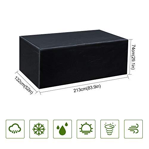 Gurkkst Funda Protectora para Muebles de jardín Funda Muebles Exterior Impermeable Anti-UV...