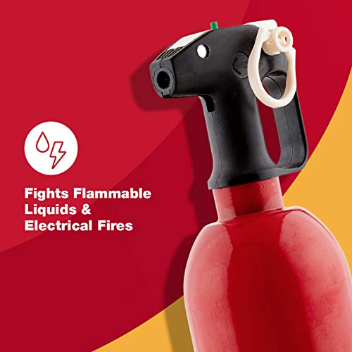 FIRST ALERT Fire Extinguisher, Car Fire Extinguisher, Red, AUTO5