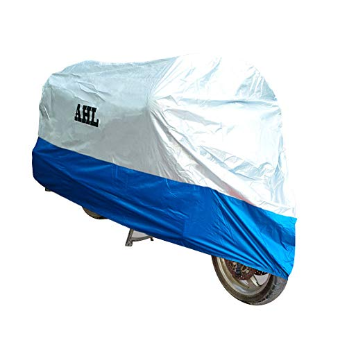 AHL Blau Regenschutz Roller faltgarage Roller motorradgarage Motorroller abdeckplane Motorroller Abdeckung Motorrad abdeckplane (L,Blau)