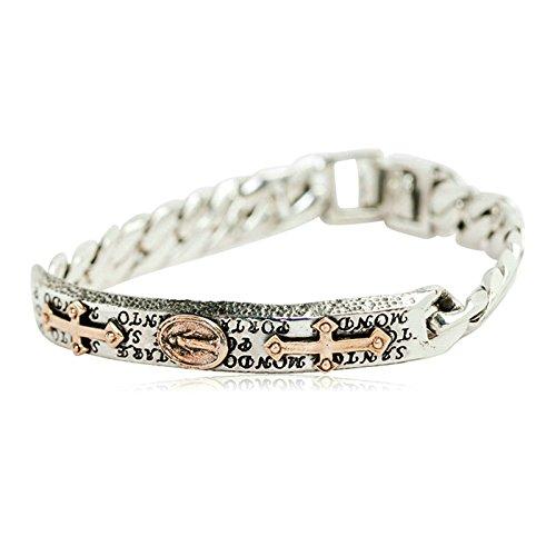 ANAZOZ Schmuck Herren Armband 925 Sterling Silber Armreif Panzer Buddha Armbänder für Männer Junge, 19cm