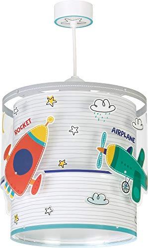 Dalber Baby Travel Lámpara Infantil de Techo Coches y Aviones, 60 W, Multicolor