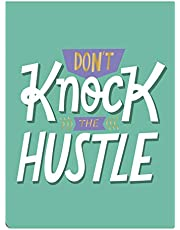 """Graphique Pocket Note, Quote Design – 3""""x 4"""", 75 Sheets with Custom Interior, Cute Portable Pocket Note with """"Don't Knock the Hustle"""" Quote on the Cover"""