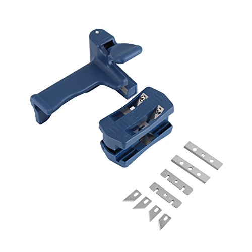 ViaGasaFamido Wood Edge Banding Trimmer, Double Edge End Cutting Device Tail Trimmer Cabinet Making Woodworking Manual Trimming Carpenter Tool