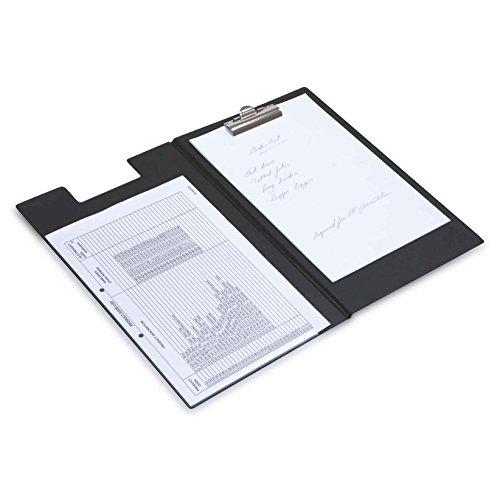 Rapesco Documentos - Carpeta portapapeles A4 con clip de sujeccion y bolsillo interior, color negro