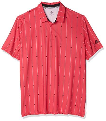 adidas Polo para hombre Ultimate365 - TM1555F20, ultimate365 polo, S, Power Rosa/Negro/Gris Dos