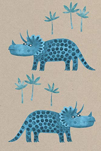 Notes: A Blank Dot Grid Notebook with Cute Triceratops Cover Art